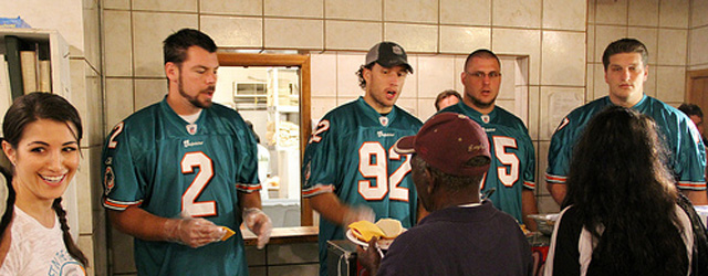 Miami Dolphins Feed The Homeless